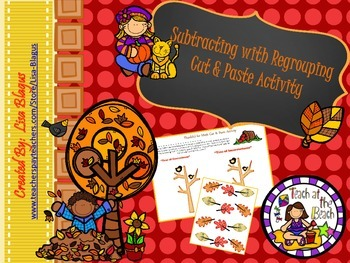 Autumn Subtracting with Regrouping Activity