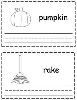 Fall/Autumn Trace & Write Book