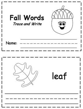 Fall/Autumn Trace & Write Book