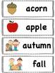Fall/Autumn Words