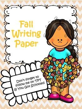 Fall/Autumn Writing Paper