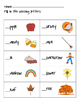 Language Arts - Missing Beginning Sounds Thanksgiving Themed Worksheet