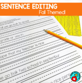 Fall/Back to School Themed Sentence Editing Practice