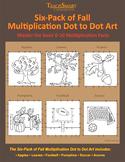 FallFest Multiplication Dot to Dot Art