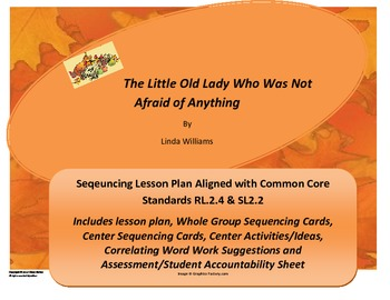 Fall/Halloween Common Core Lesson Plan: The Little Old Lady Who Was Not...