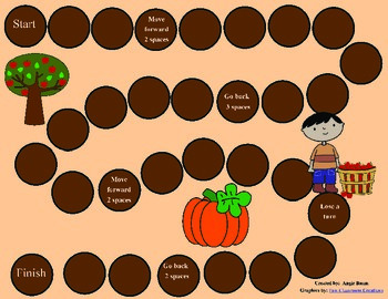 Fall/Halloween Game Board for any skill FREEBIE