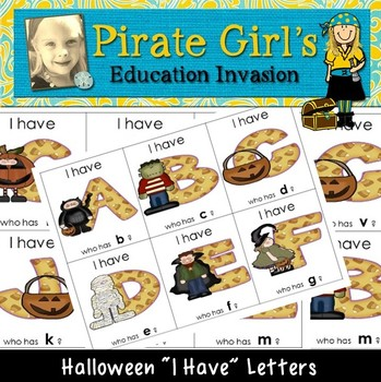 Fall/Halloween Letter Game (I Have...Who Has?)