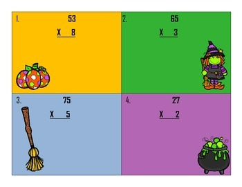 Fall/Halloween Multiplication Scoot with QR Codes