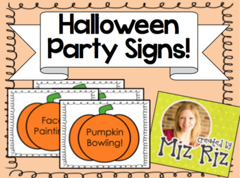 FREEBIE Halloween Party Signs!
