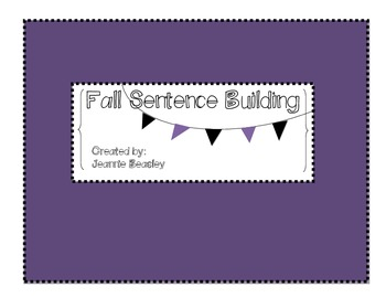 Fall Sentence Building