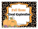 Fall/Halloween Theme Vocal Exploration Slides