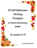 Fall/Halloween Themed Writing Prompts