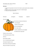 Fall/Halloween Types of Sentences Center Sort