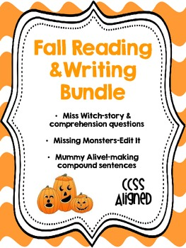 Fall/Halloween Reading and Writing Bundle {CCSS Aligned}