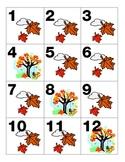 Fall/November Calendar Pieces Leaves Tree AAAB Pattern