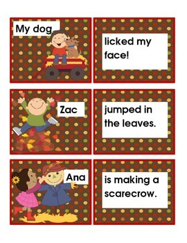 Scarecrow/Pumpkin/Fall Theme Literacy Centers