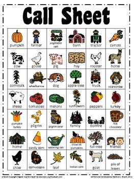 Fall/Thanksgiving BINGO Game