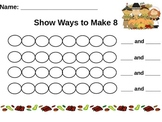 Fall/Thanksgiving Math Centers Prek-K