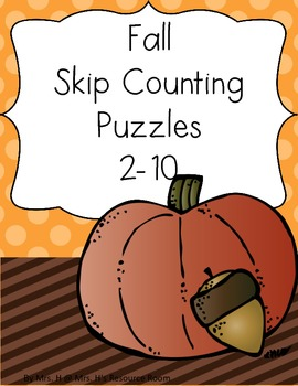 Fall/Thanksgiving Themed Skip Counting Puzzles