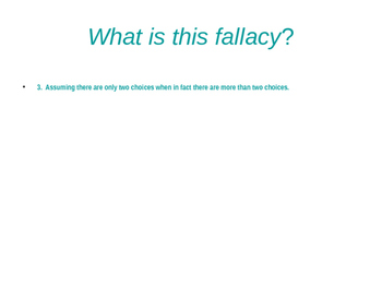 Fallacies 1--Definitions for Identification