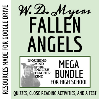Fallen Angels by Walter Dean Myers - Assessment Bundle (3 Quizzes & 1 Test)