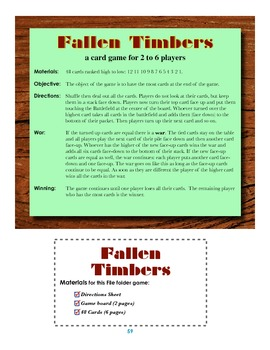 Fallen Timbers Card Game!
