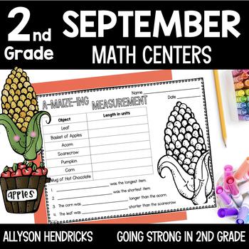 Fallin' Into Math Centers - September CCSS Aligned Math Centers 2nd Grade