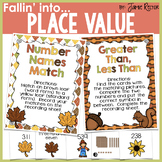 Fallin' Into Place Value Activities {Centers, Printables, & 100s Charts}