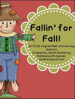 Fallin' for Fall Math and Literacy Stations (CCSS Aligned Kindergarten!)