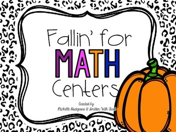 Fallin for Math Centers {4 FREE Centers}