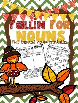 Fallin' for Nouns- Fall themed Noun Printables