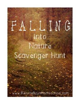 Falling into Nature Scavenger Hunt