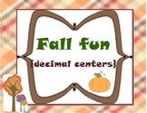 Fallin' into decimals {decimal center fun}