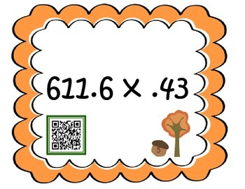 Fallin' into decimals {decimal center fun}
