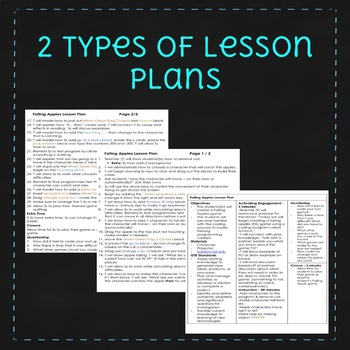 Falling Apples - September Scratch Lesson Plan