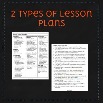 Pumpkin Bowling - October Scratch Lesson Plan