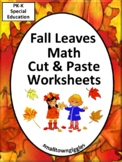 Fall Leaves Math Literacy Kindergarten Math Special Education Math Fine Motor