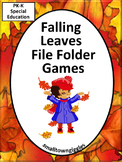 Autumn Fall Math and Literacy Activities, File Folder Games Special Education