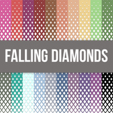 Falling Diamonds Digital Backgound - Commercial Use Allowed