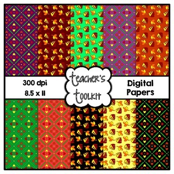 Falling Digital Background Papers {8.5 x 11} Clip Art CU OK