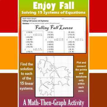 Falling Fall Leaves - 15 Linear Systems & Coordinate Graph