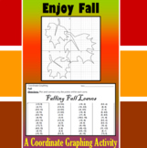 Falling Fall Leaves - A Fall Coordinate Graphing Activity