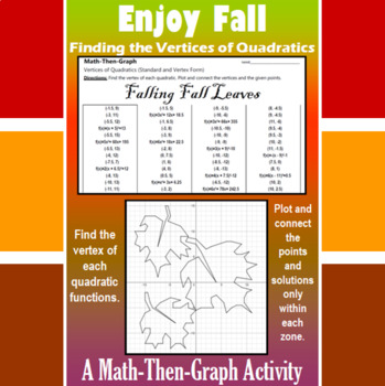 Falling Fall Leaves - Finding Vertices - 4 Math-Then-Graph Activities