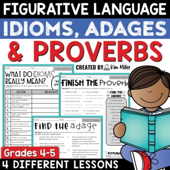 Idioms, Proverbs, and Adages Practice Worksheets