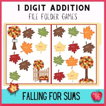 File Folder Games: Falling for Numbers Autumn Addition Facts