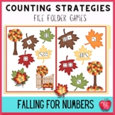 Fall Numbers and Counting Strategies File Folder Games Kit: Falling for Numbers