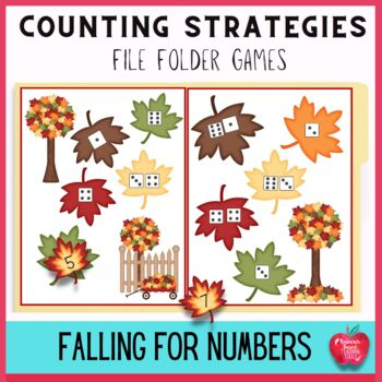 Fall Numbers and Counting Strategies File Folder Games Kit