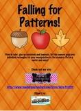 Falling For Patterns Kindergarten Fall Unit