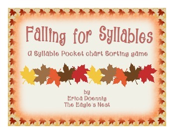 Falling For Syllables--A Syllable Sorting Game
