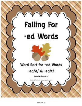 Falling For -ed Words